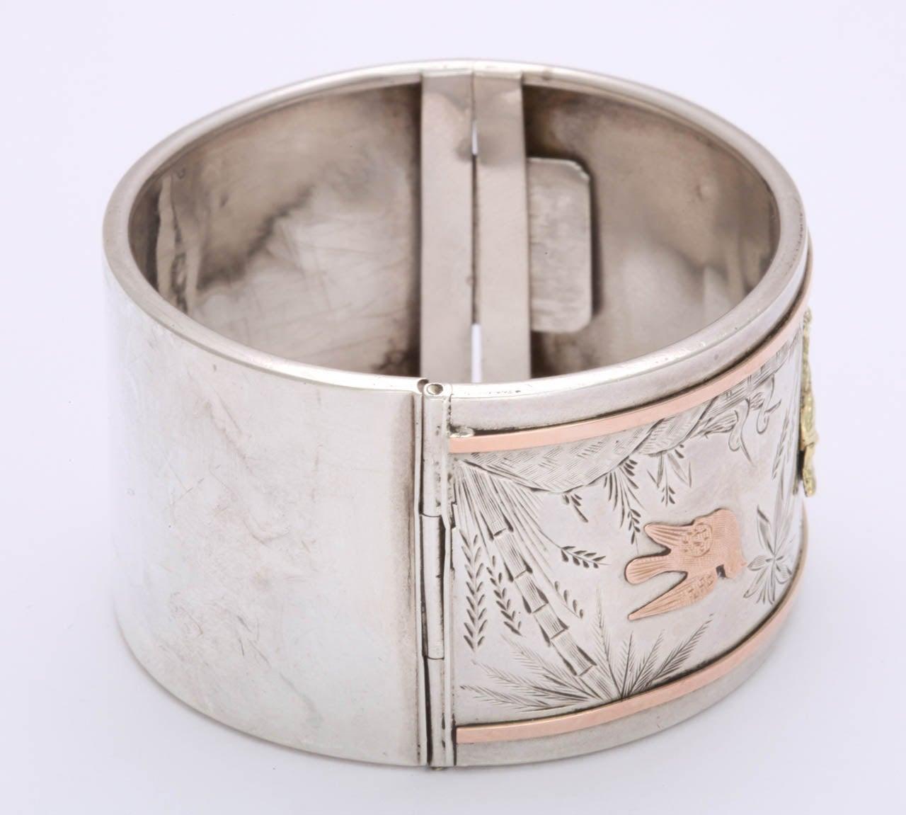 Spring Awakening:  A Victorian Cuff Bracelet For Sale 2