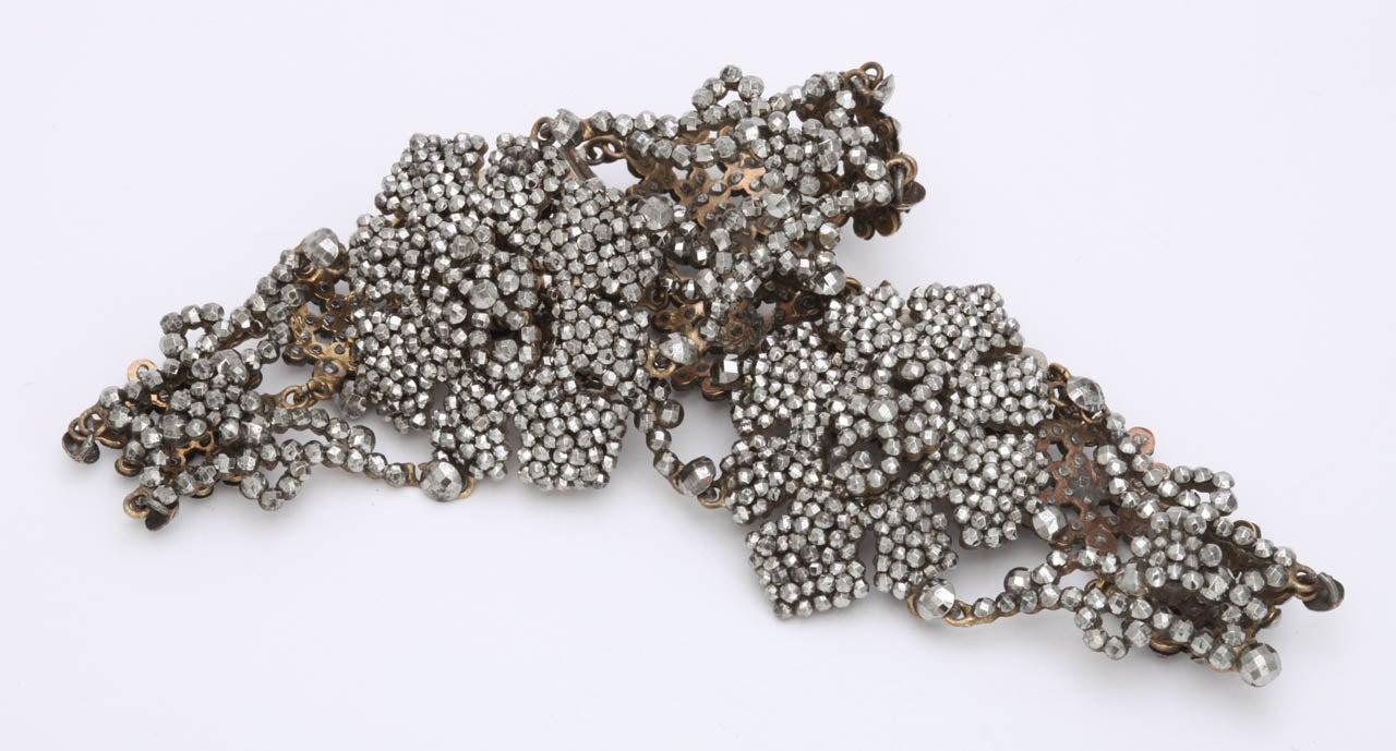 Women's A Pair Of Handmade Georgian Cut Steel Bracelets For Sale