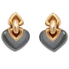 BULGARI Hematite Gold Earrings