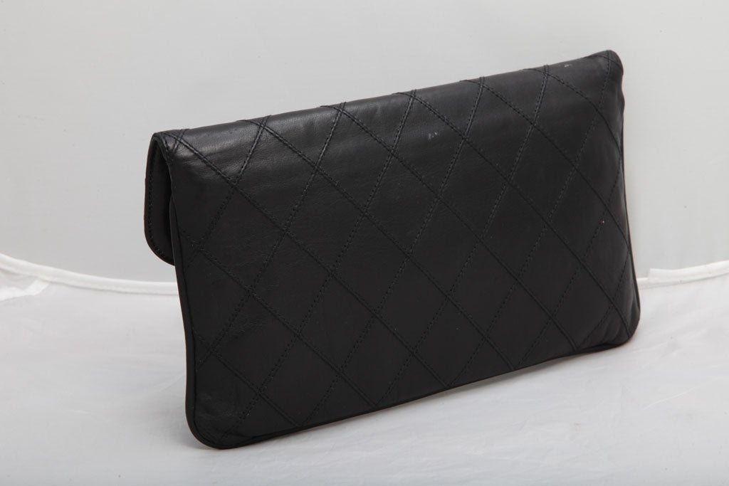 CHANEL QUILTED CLUTCH BAG 4