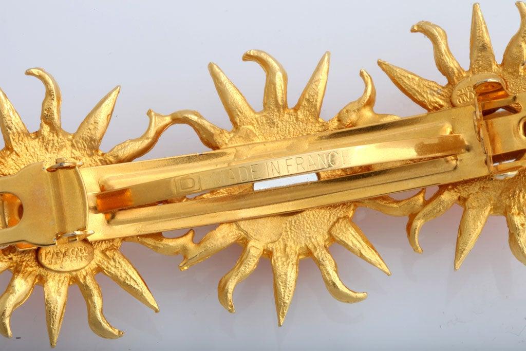 Orange Sun Goldtone Barrette For Sale 1