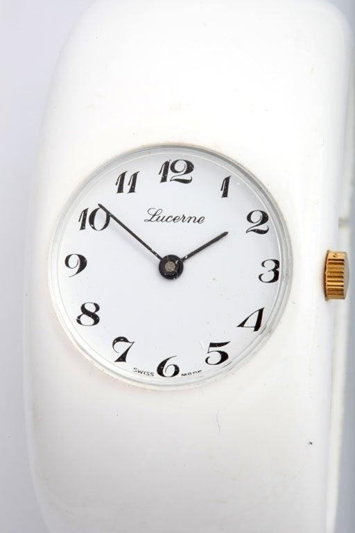Mod White Resin Swiss Bangle Watch 3