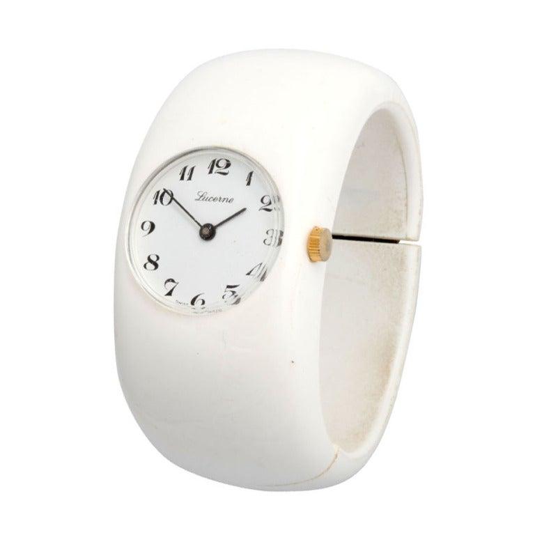 Mod White Resin Swiss Bangle Watch 1