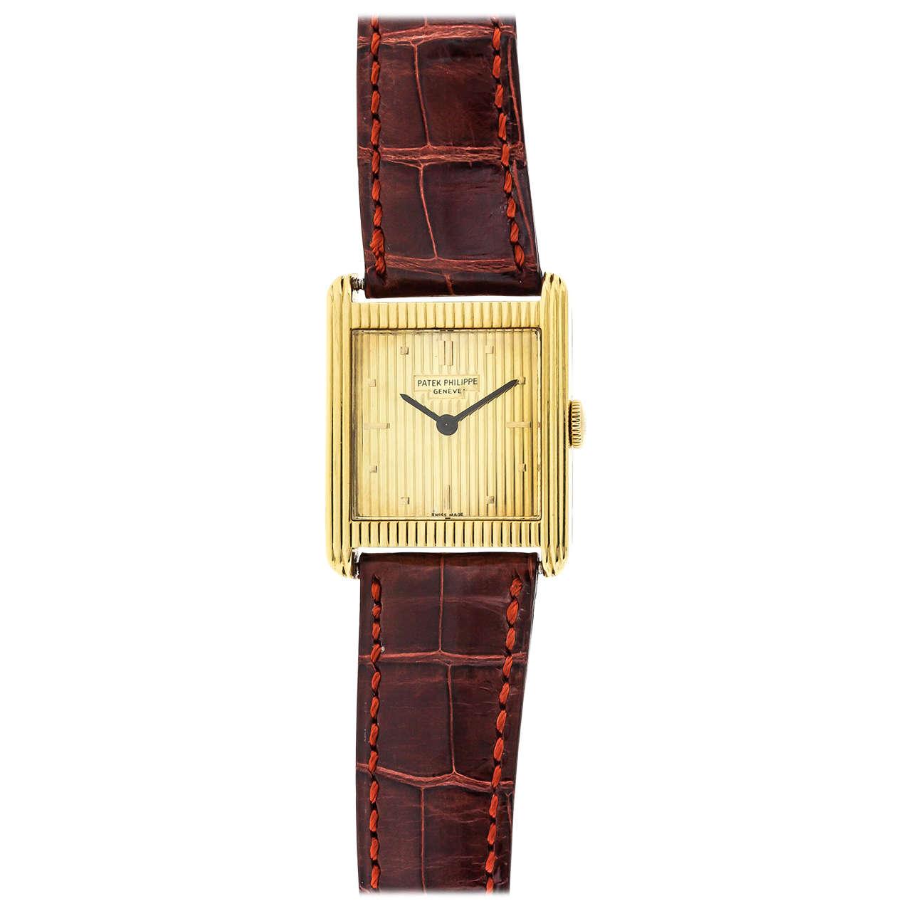 Patek Philippe Yellow Gold Manual Wind Wristwatch Ref 3475