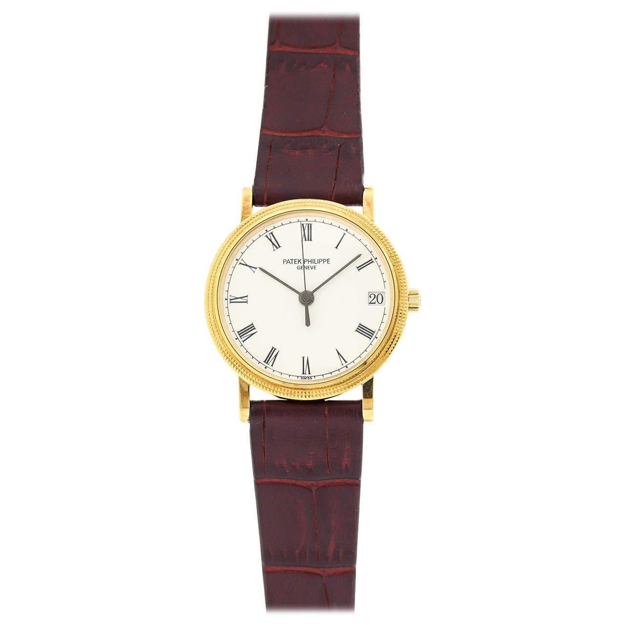 Patek Philippe Yellow Gold Self Winding Calatrava Wristwatch Ref 3802/200