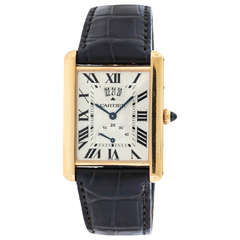 Cartier Rose Gold Power Reserve Date Wristwatch Ref 3185
