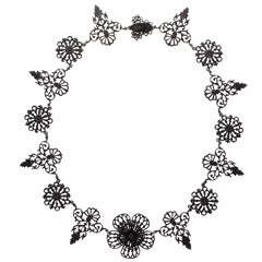 A Garland of Flowers in a Berlin Iron Necklace