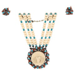 Lawrence Vrba Convertible Necklace & Ear Clip Set