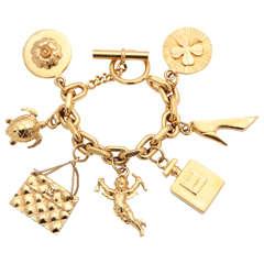 Chanel Vintage Iconic 7 Charm Bracelet