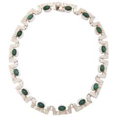 Stunning Aventurine Silver Necklace
