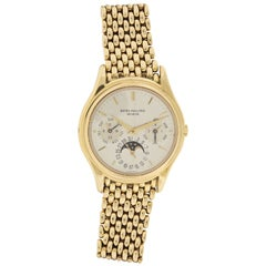 Patek Philippe Yellow Gold Perpetual Calendar Wristwatch Ref 3940J/1