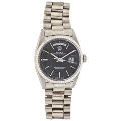 Rolex White Gold Day-Date Wristwatch Ref 1803