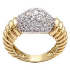 Super Chic Diamond Pinky Ring