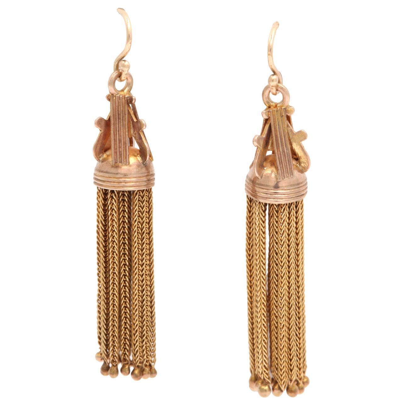 Victorian Tassel Earrings At 1stdibs