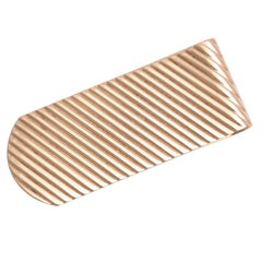 Gold Ridged Gentlemens Money Clip