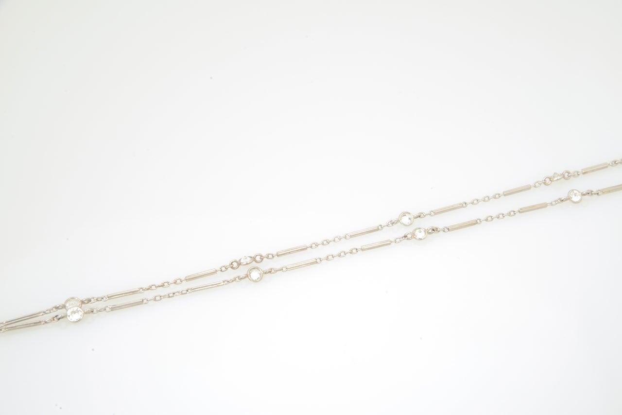 Women's Art Deco Floral Sapphire and Diamond Platinum Drop Pendant Necklace For Sale