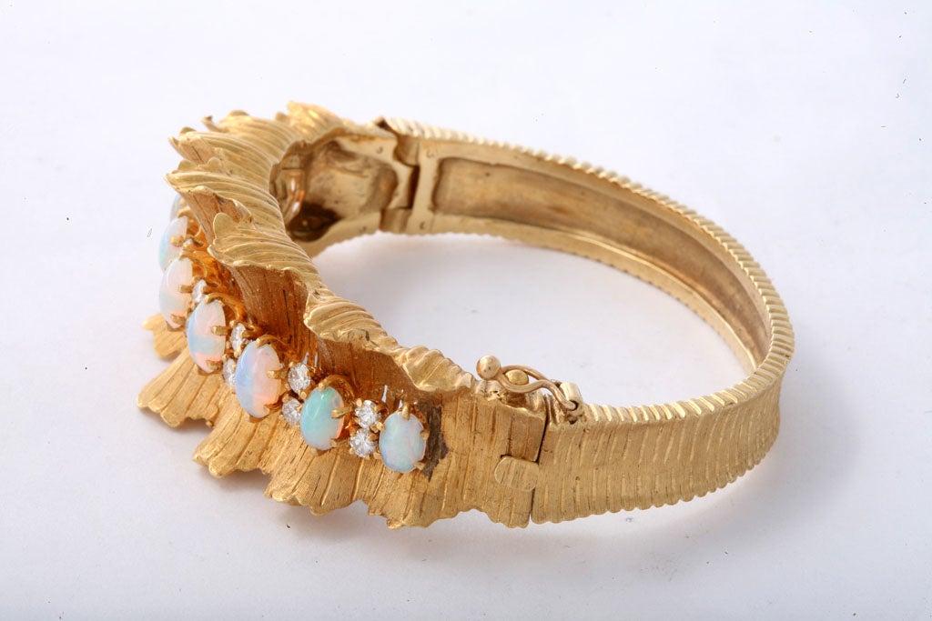 Gold Diamond & Opal Bracelet 3