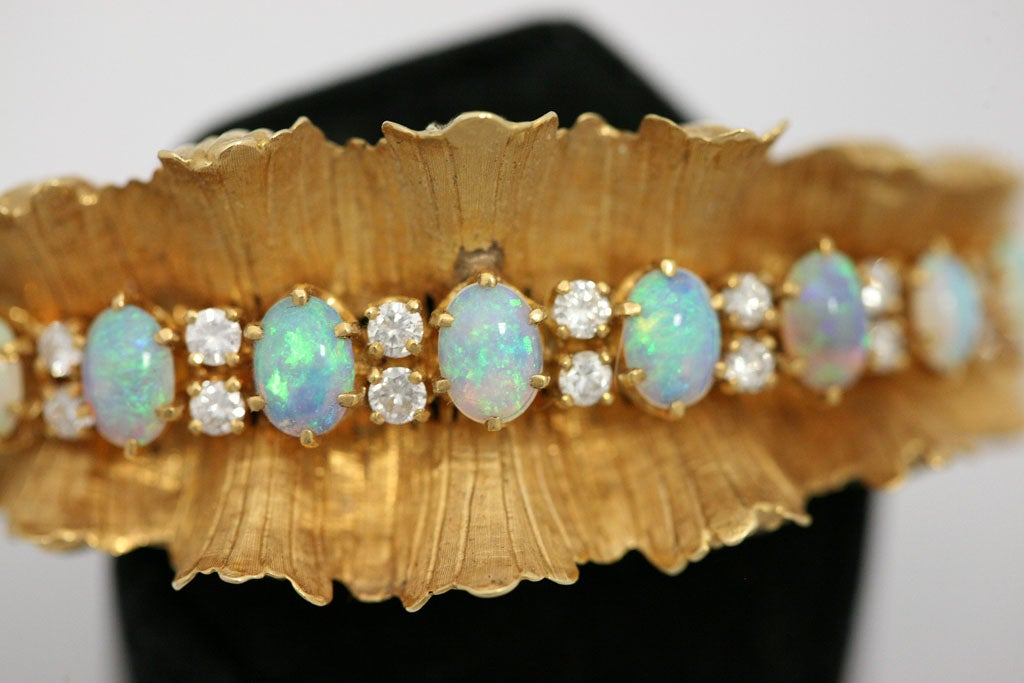 Gold Diamond & Opal Bracelet 5