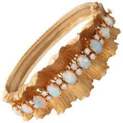Gold Diamond & Opal Bracelet