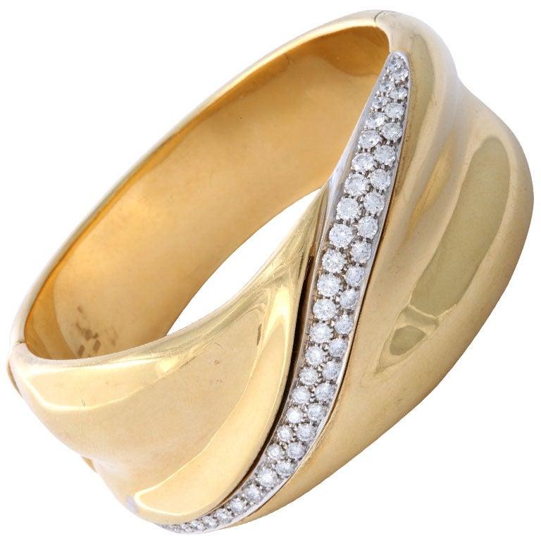 Gold and Diamond Cuff