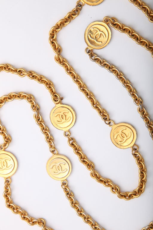 Classic Chanel Necklace Chanel Gold Tone Classic