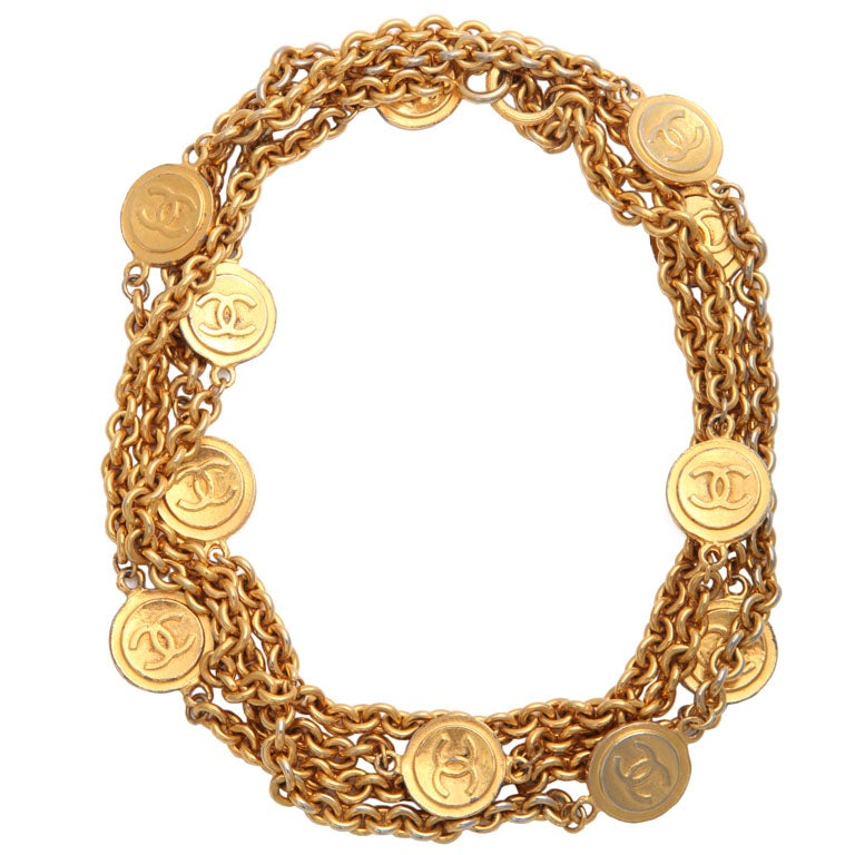 Classic Chanel Necklace Chanel Gold Tone Classic Link