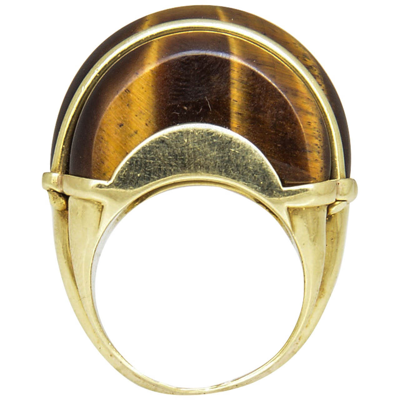 1970 s tiger s eye and gold ring at 1stdibs