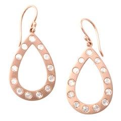 Rose Gold and Rose Cut Diamond Earrings
