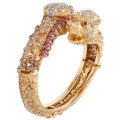 Double Headed Lion Bracelet by Lalaounis