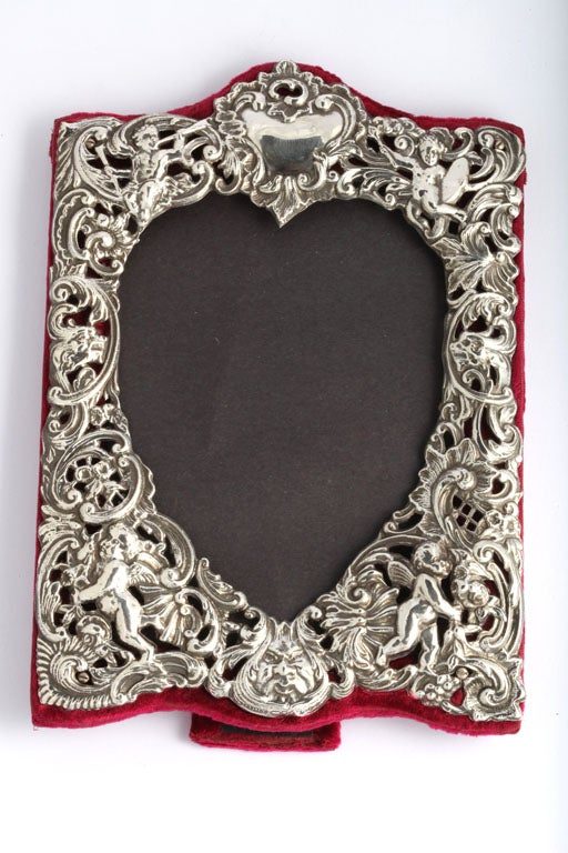 Sterling Silver Heart-Shaped Picture Frame image 2