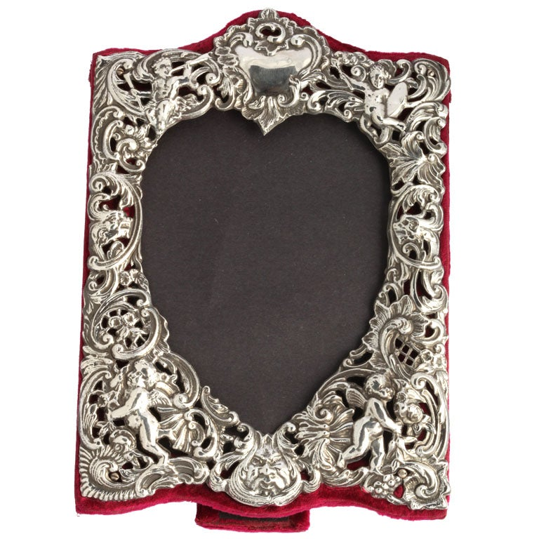Sterling Silver Heart-Shaped Picture Frame