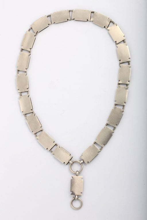 English Sterling Bookchain Necklace 6