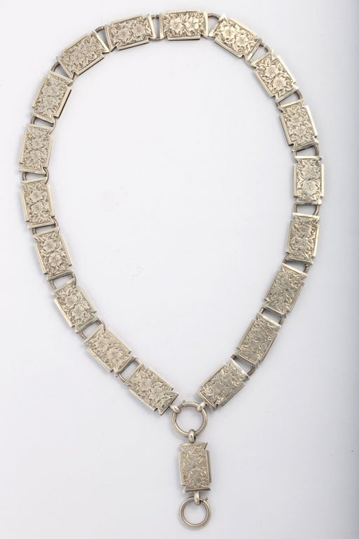 English Sterling Bookchain Necklace 3