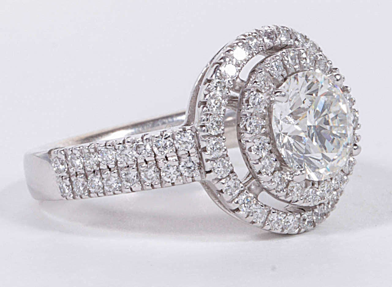Gia Certified Double Halo Round Engagement Ring 2