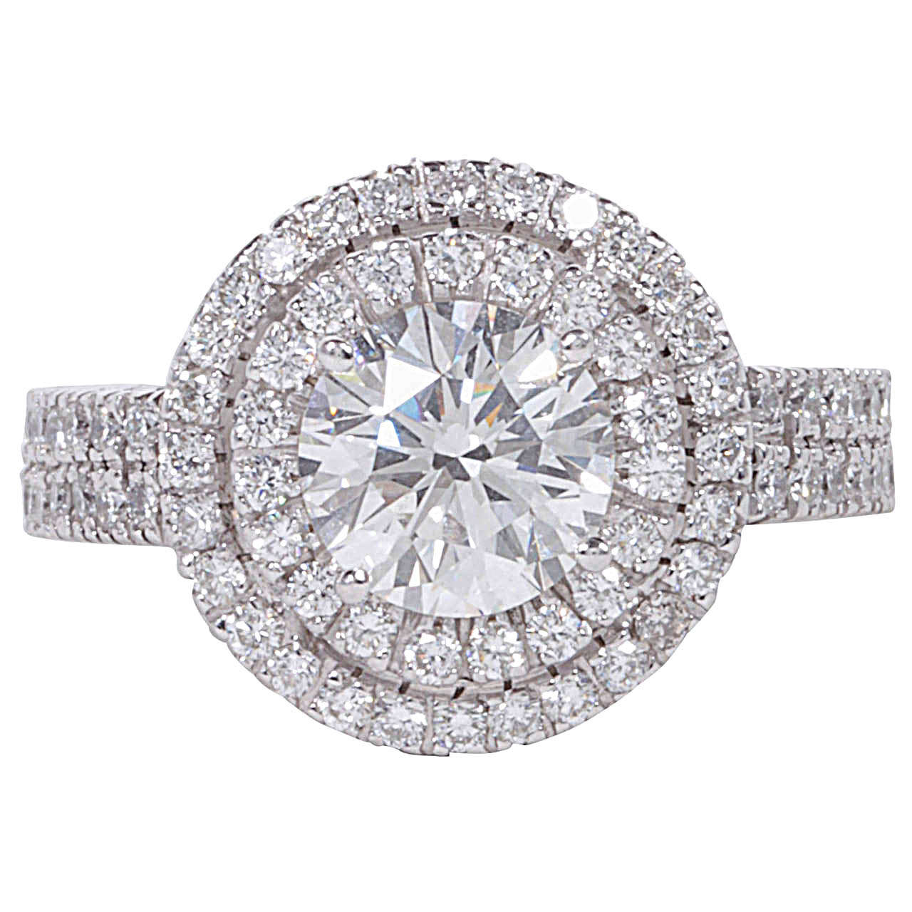 certified halo engagement ring at 1stdibs
