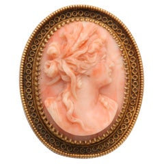 Antique Coral Cameo