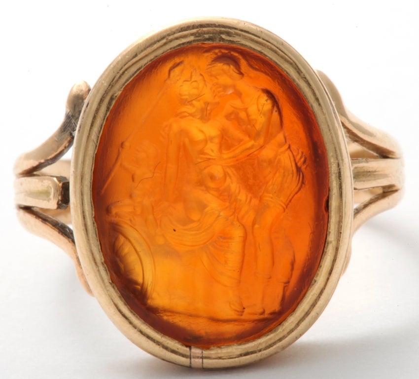 Women's or Men's Tassie Intaglio With Antique Mount For Sale