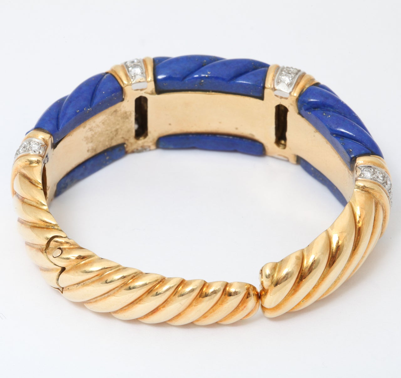 charles turi lapis lazuli gold and diamond cuff bracelet. Black Bedroom Furniture Sets. Home Design Ideas