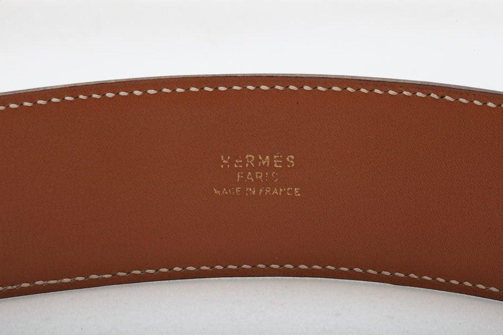 HERMES COLLIER DE CHIEN BELT BROWN/GOLD 6