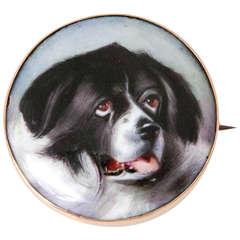 Victorian Essex Enamel Dog Pin