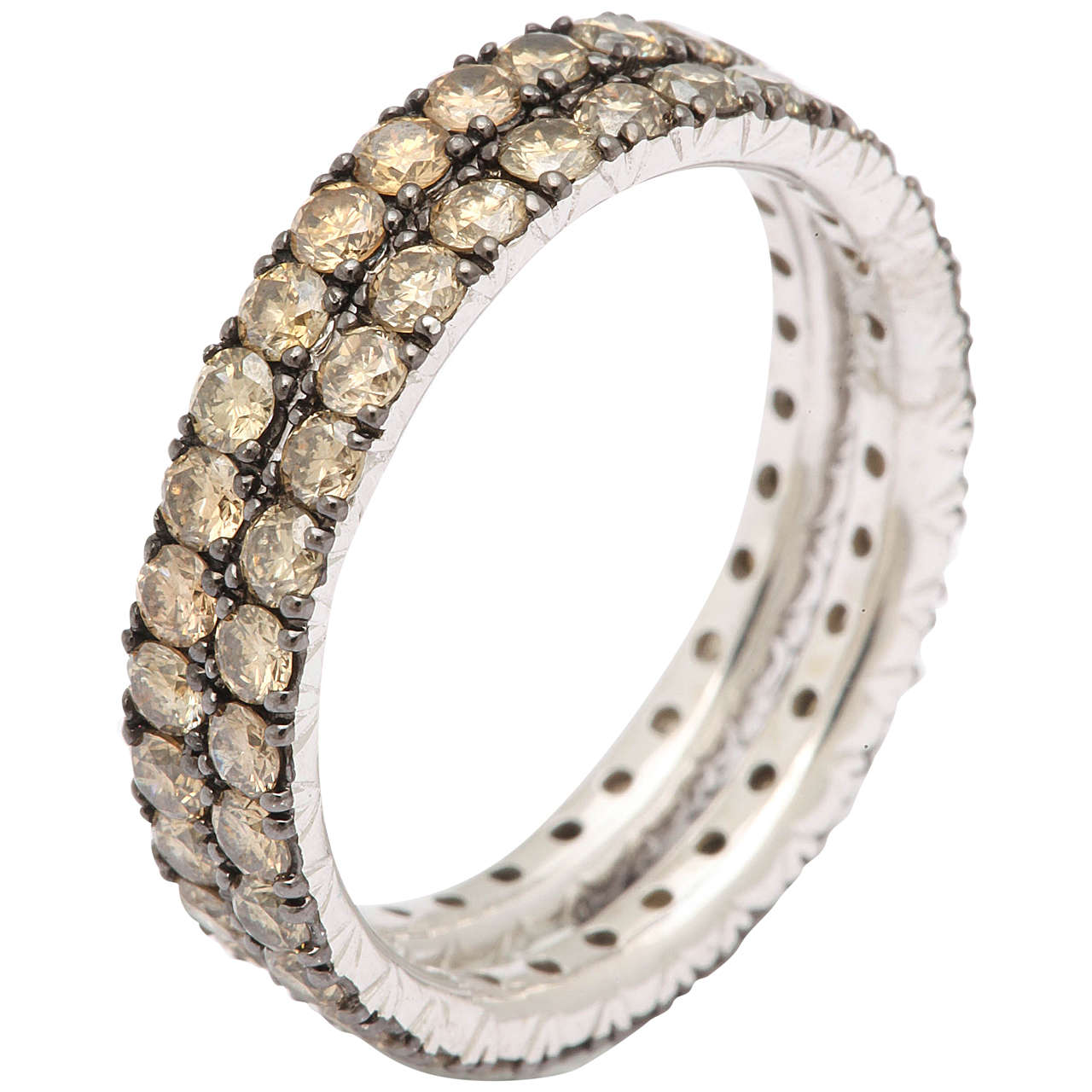 eternity prong basket diamond shared band bands wb white pave