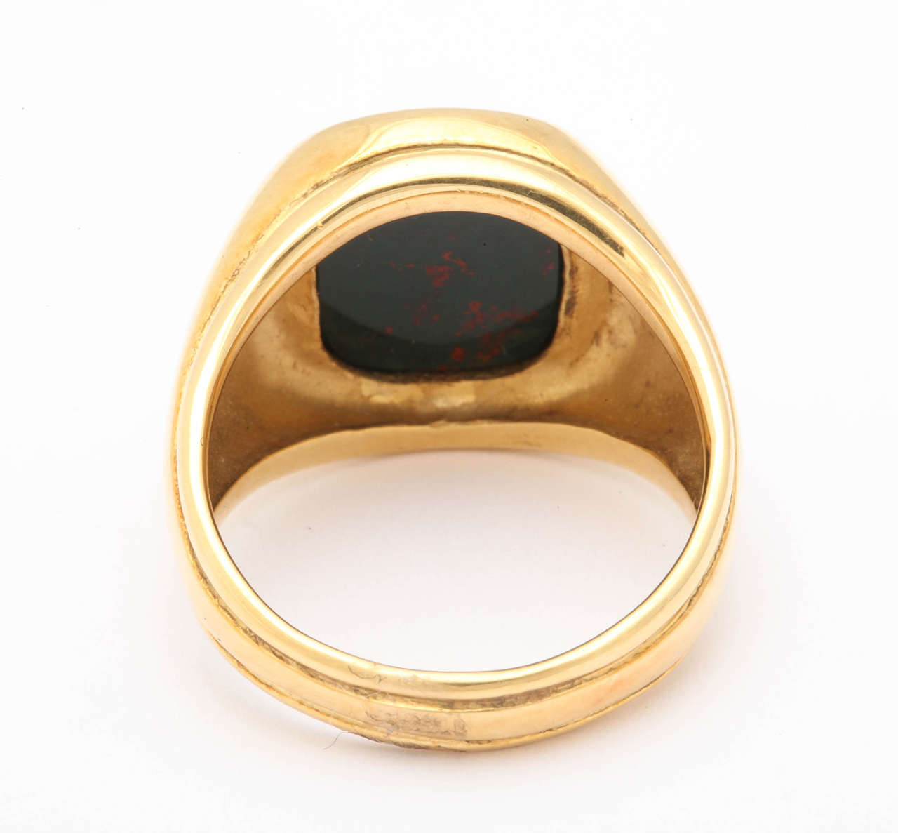 Women's or Men's Bloodstone Intaglio Jumping Horse Ring For Sale