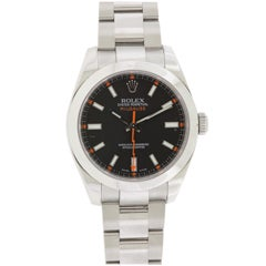 Rolex Stainless Steel Milgauss Wristwatch Ref 116400
