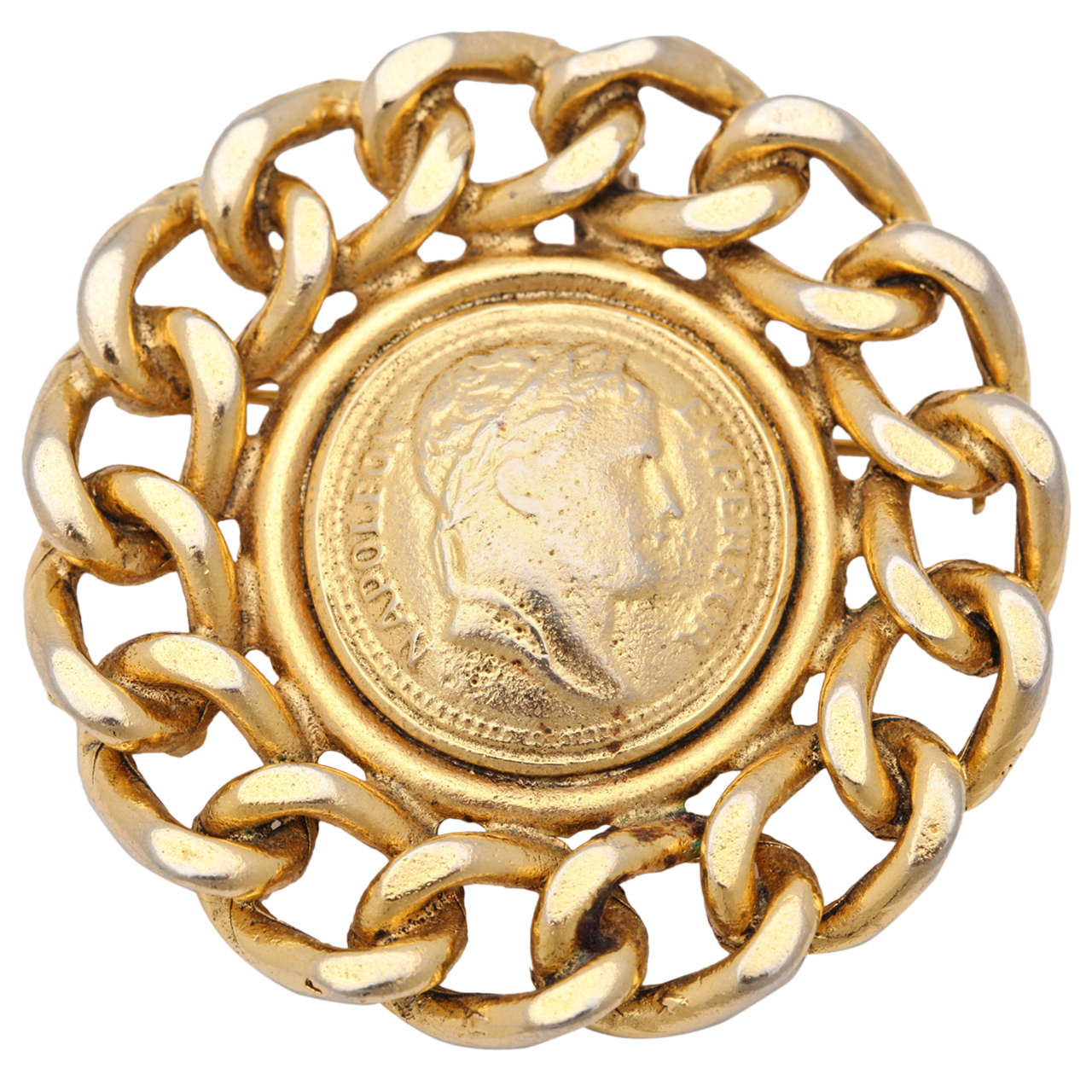 Large Coin Brooch or Pendant by Graziano
