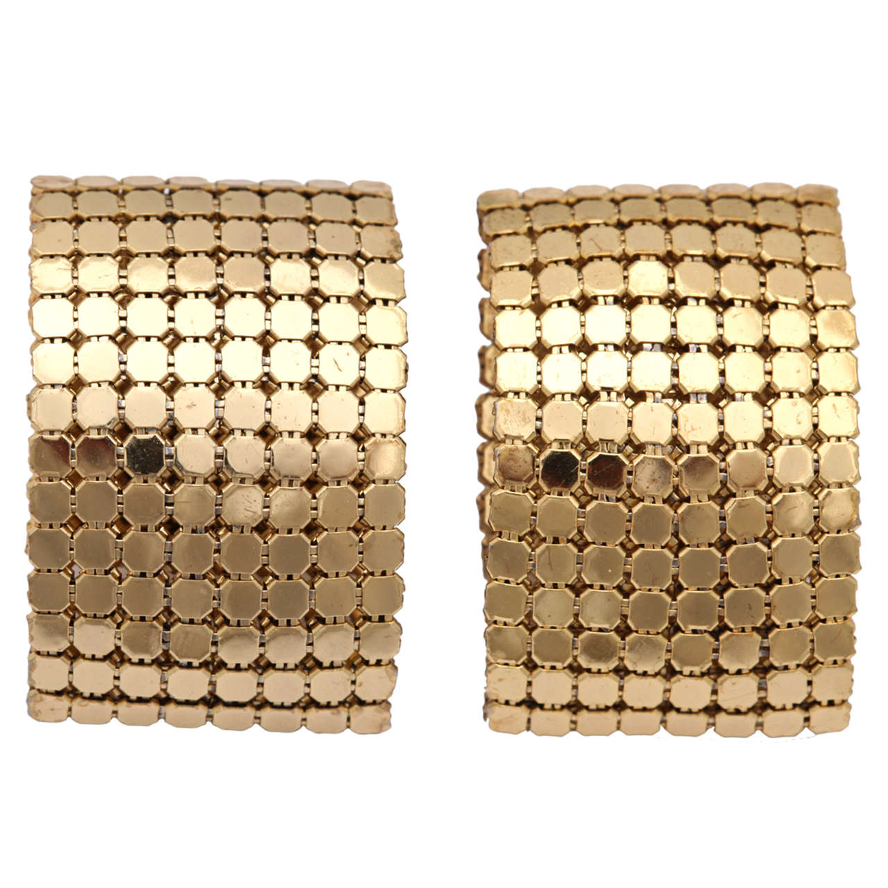 """Gold"" Nail Head Earrings"