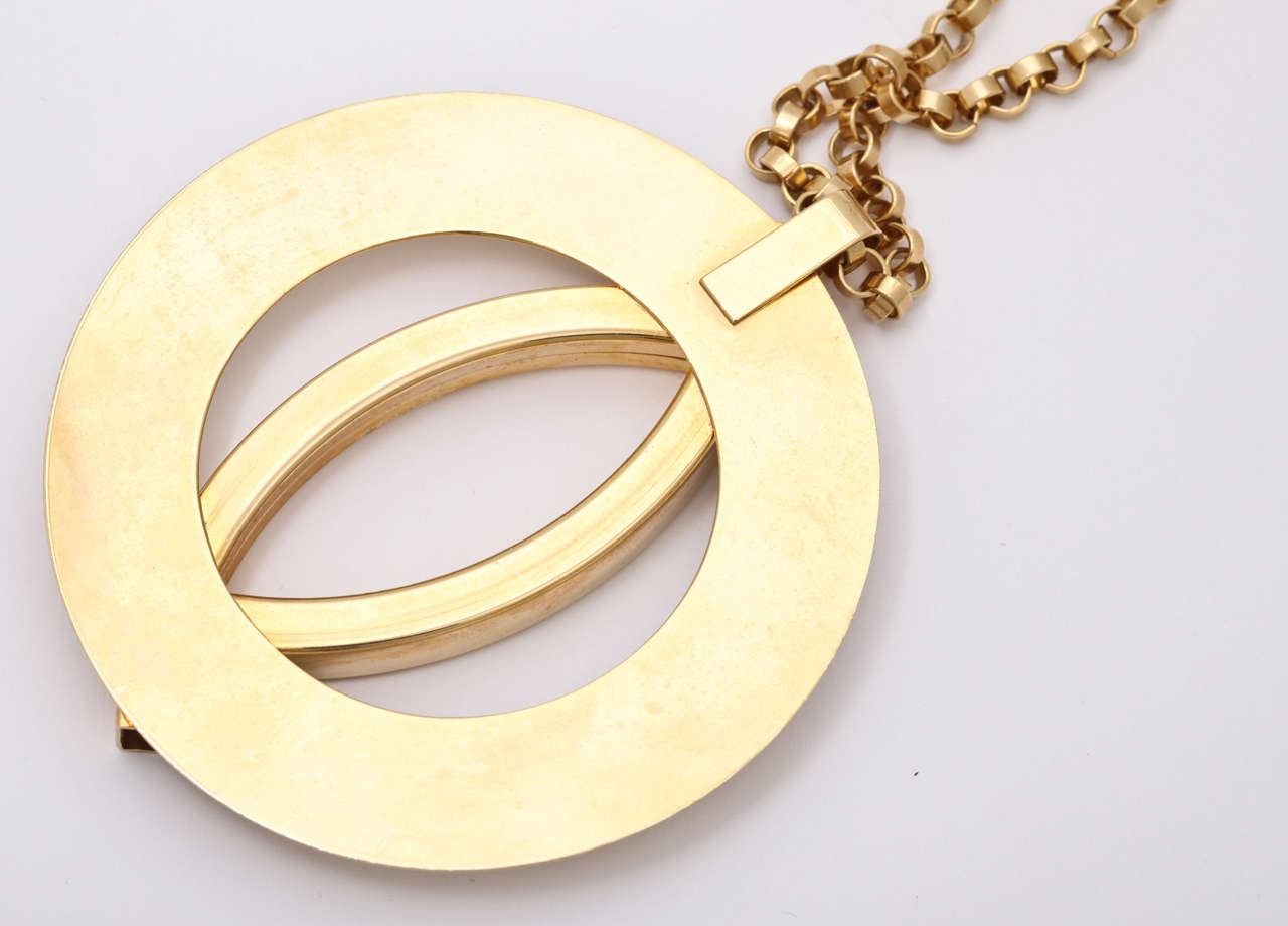 Women's Large Mod Medallion Necklace For Sale