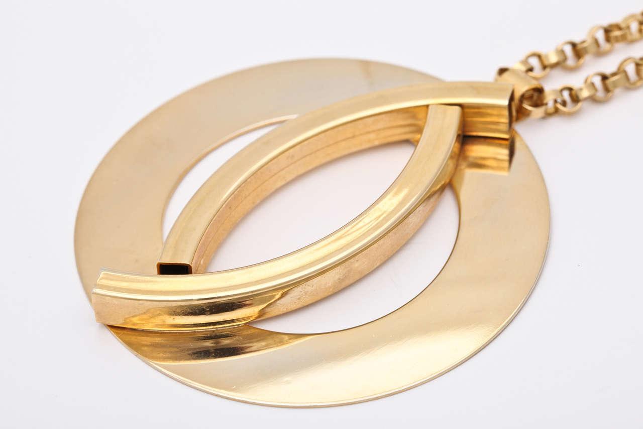 Large Mod Medallion Necklace For Sale 2