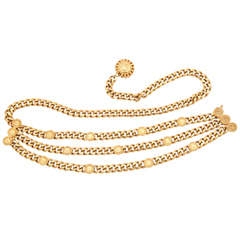 "St. John ""Gold"" Chain Belt"