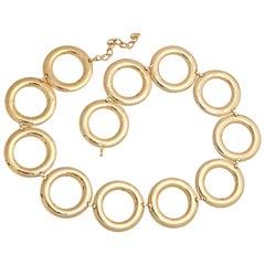 "1960s ""Gold"" Circle Belt, Costume Jewelry"