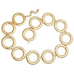 "1960s ""Gold"" Circle Belt"